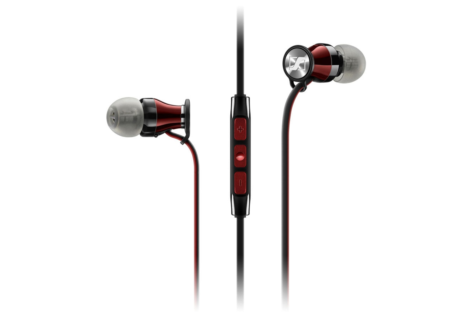 Sennheiser Momentum M2 IEI In Ear Headphones | Black & Red