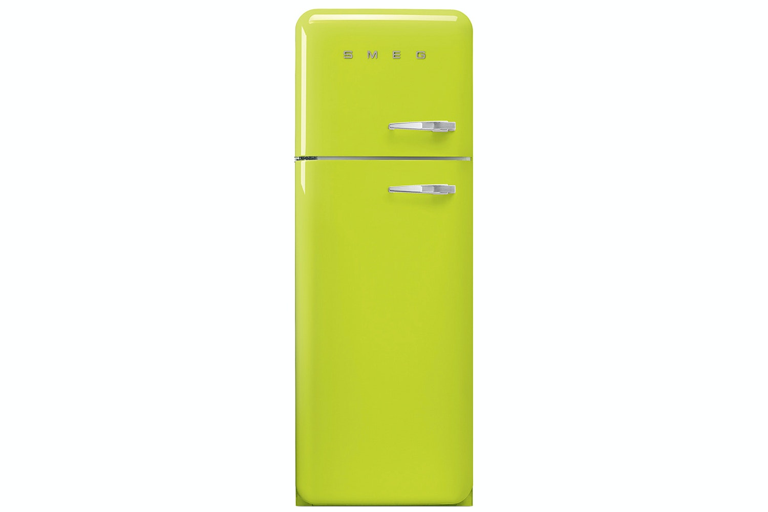 Smeg 50's Retro Style Freestanding Fridge Freezer | FAB30LFL | Lime Green