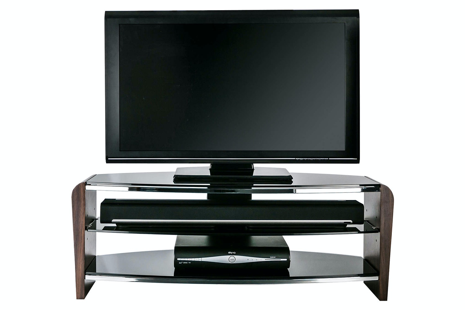 Alphason Francium 1100 TV Stand | Black/Walnut