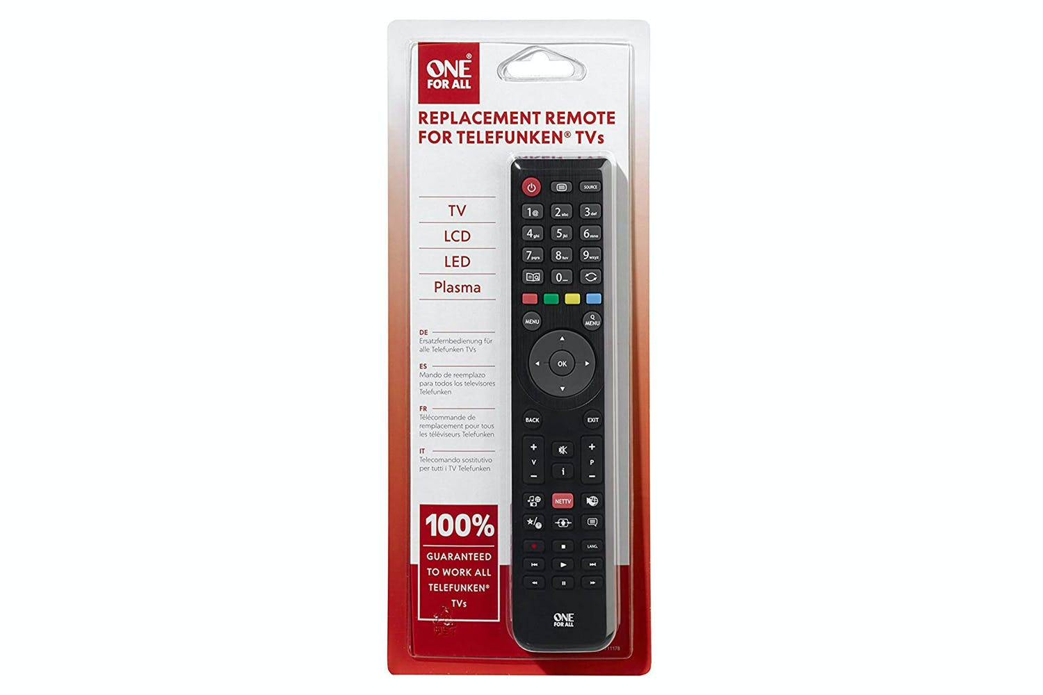 One For All Telefunken TV Replacement Remote