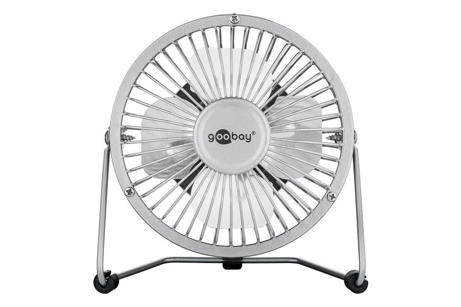 "Goobay Desktop USB Fan 8"" Silver"