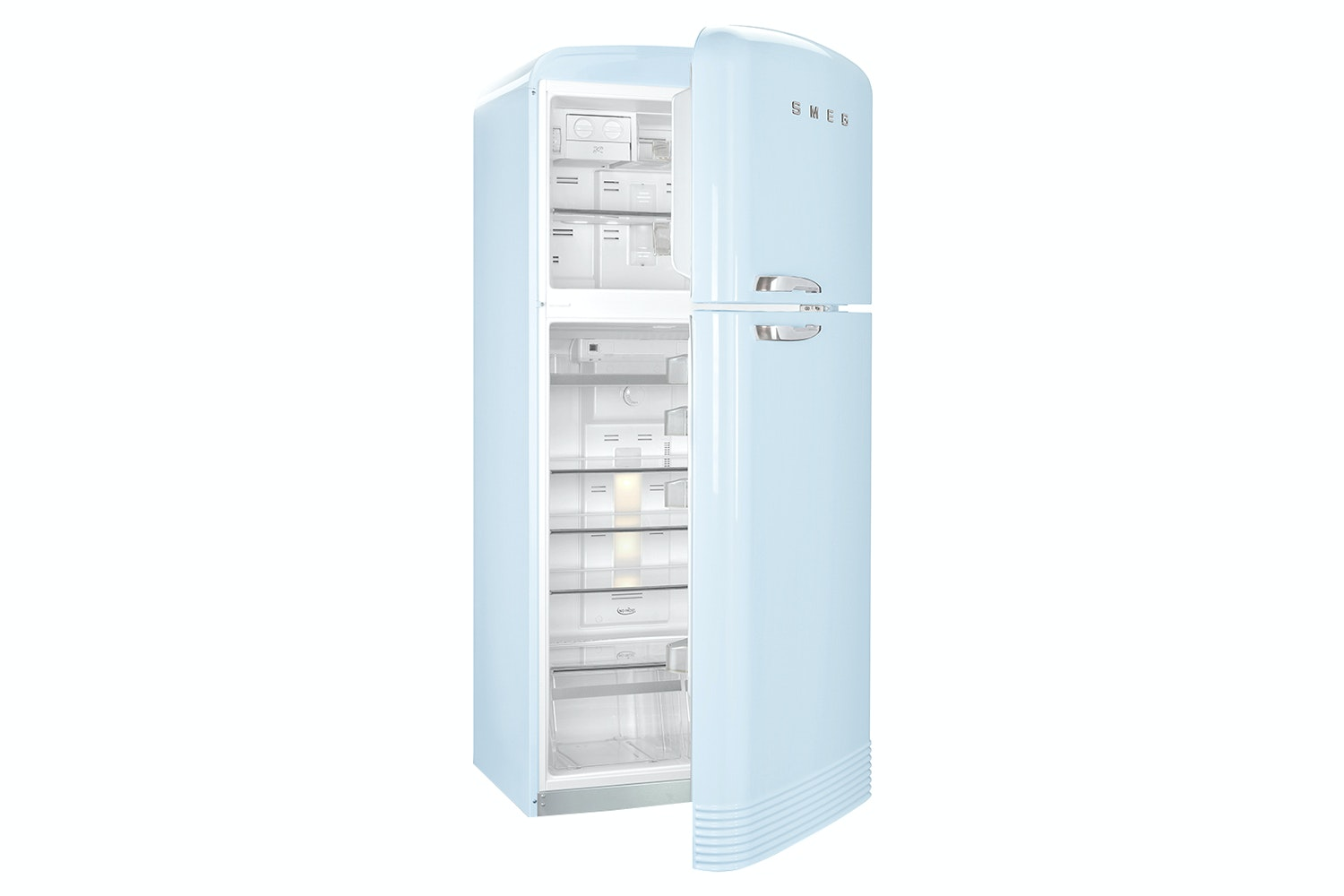 Smeg Retro Style Freestanding Fridge Freezer | FAB50RPB | Pastel Blue