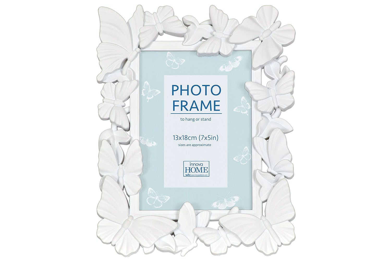 Innova Editions White Butterfly Frame   6x4\