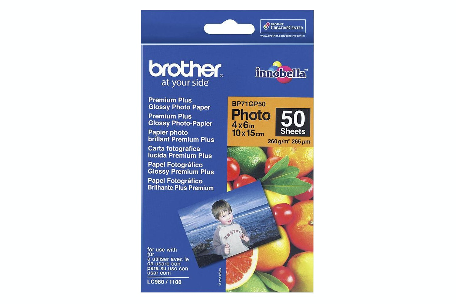 "Brother BP71GP50 Glossy 4 x 6"" Photo Paper"