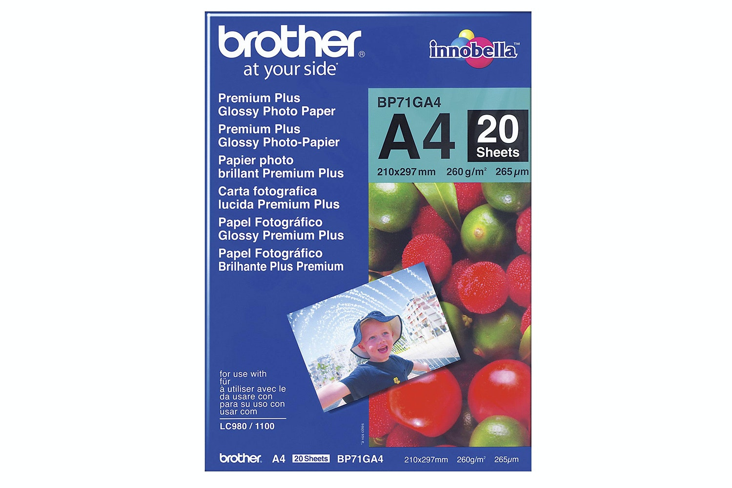 Brother BP71GA4 Innobella Glossy A4 Photo Paper