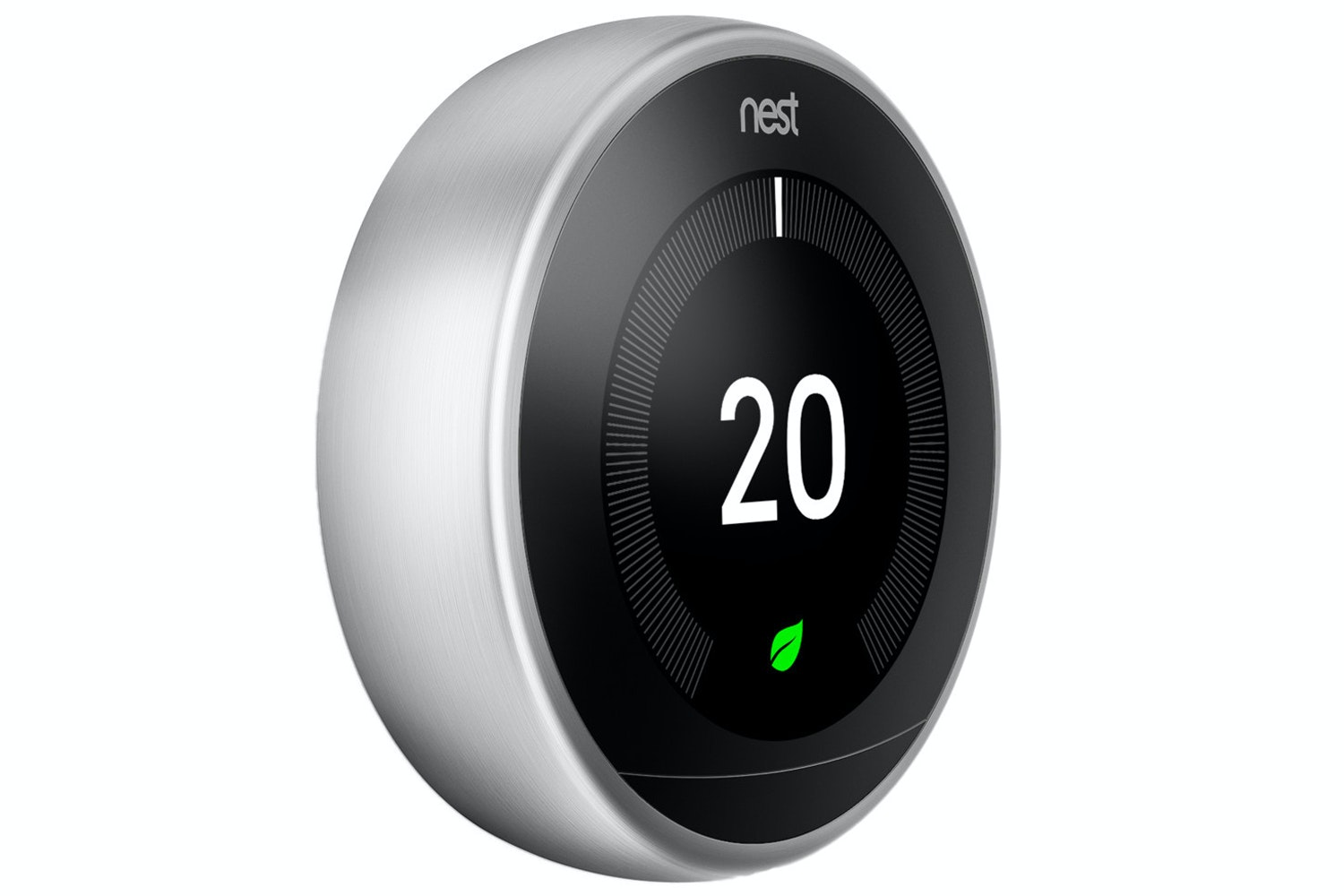 Nest Learning Thermostat 3rd Gen | Steel (2018)