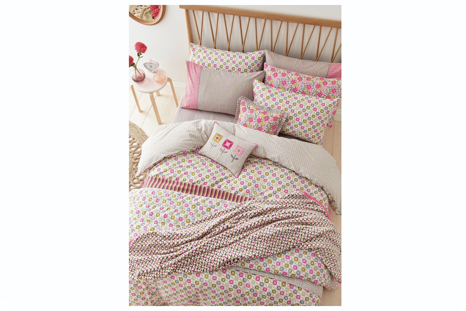Helena Springfield Dot Duvet Cover Set | Cerise | Double