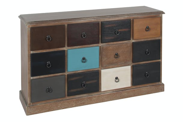 12 Drawer Pacific Chest | Multicoloured