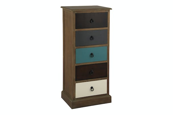 Pacific 5 Drawer Chest | Multicoloured