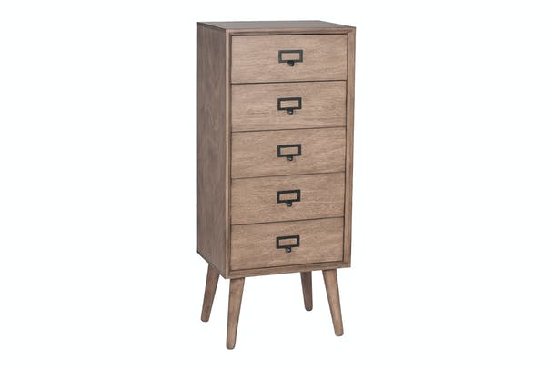Pacific 5 Drawer Chest | Desert Brown