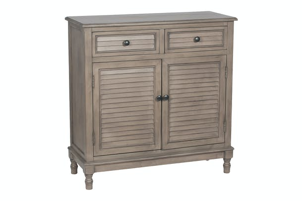 Pacific 2 Drawer 2 Door Chest | Taupe | Pine Wood