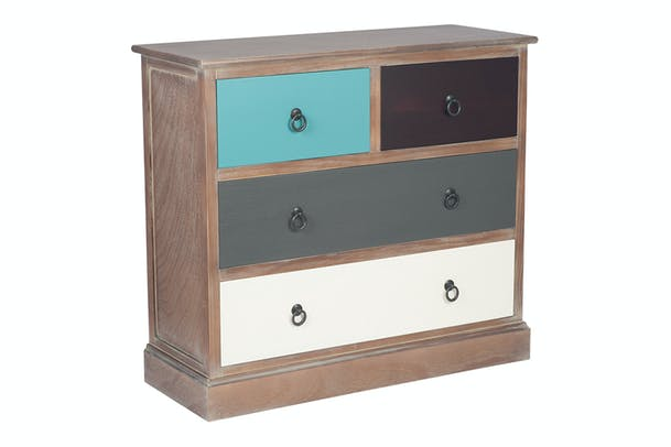Pacific 5 Drawer Chest | Multicloured