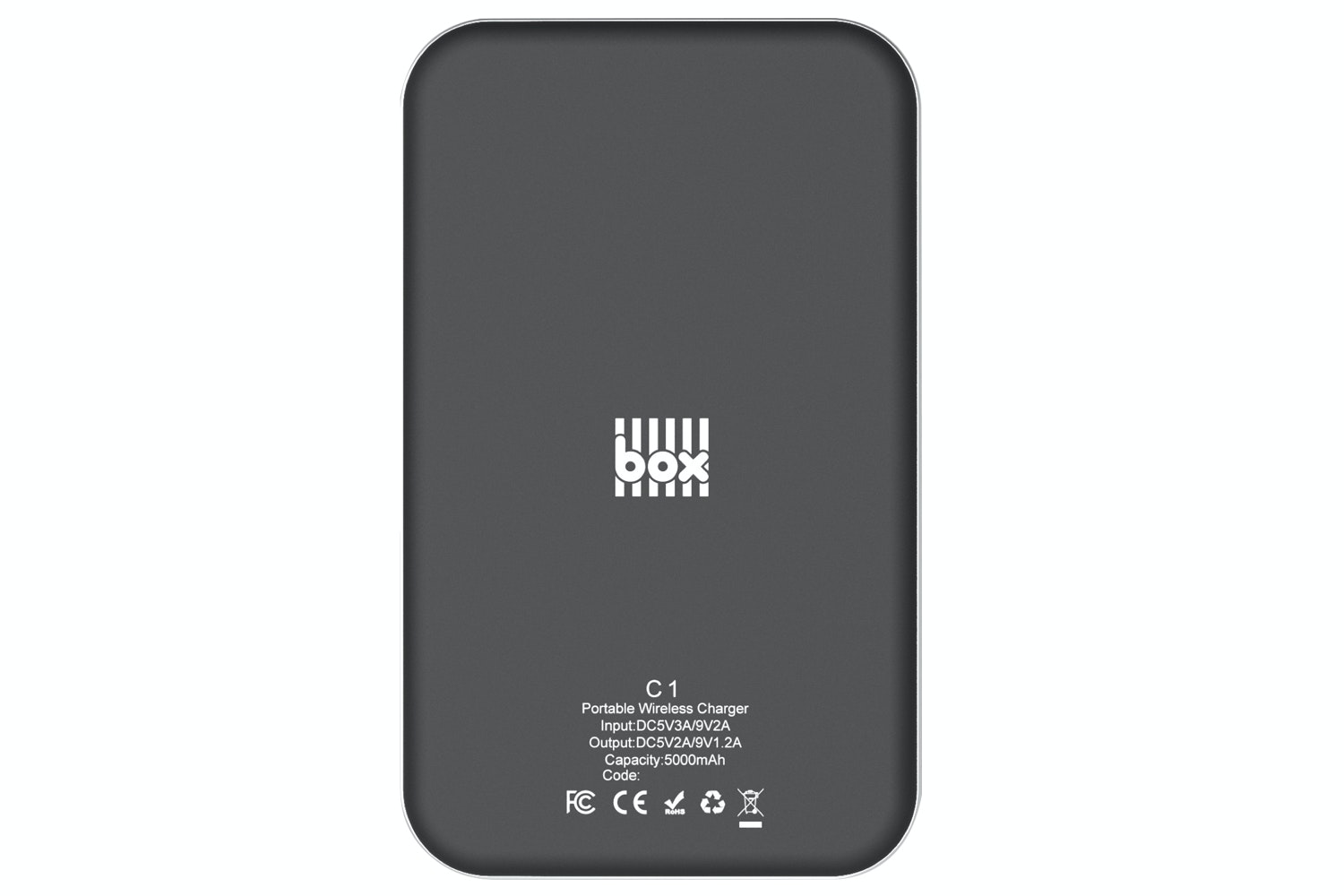 Box 5000mAh Qi Wireless Power Bank | Black