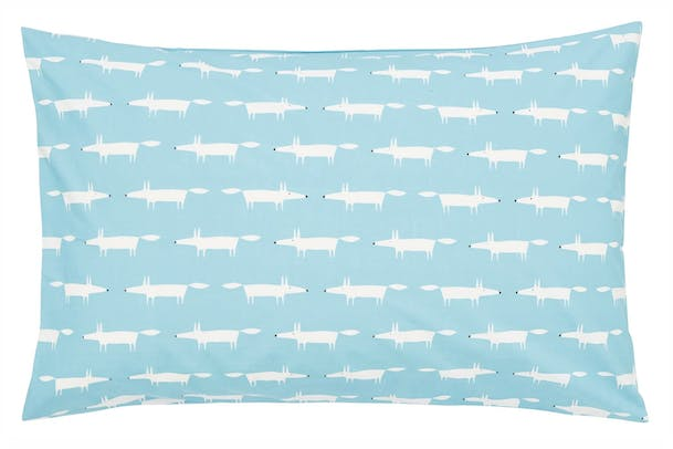 Mr Fox Standard Pillowcase Pair | Teal