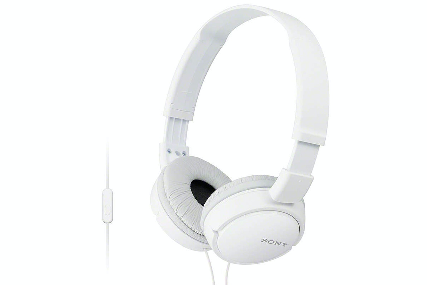 Sony MDR-ZX110AP Over Ear Headphones | White
