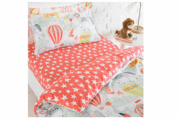 Vintage Circus Fitted Sheet | Single