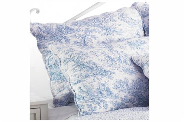 Canterbury Tales Pillow Sham | Blue