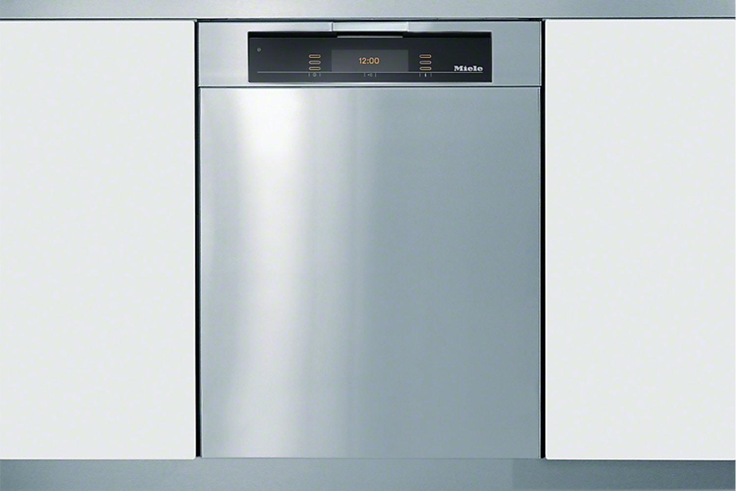 Miele GFV 60/60-1  Int. front panel: W x H, 24 x 24 in   with Clean Touch Steel finish for integrated dishwashers