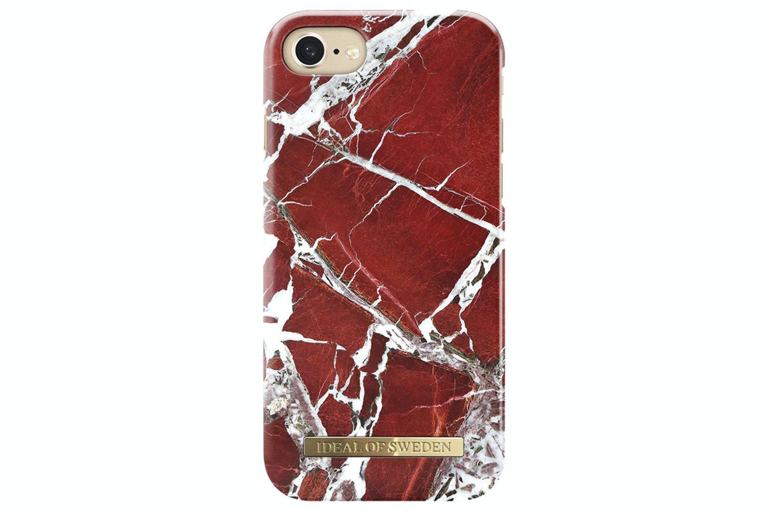 Ideal of Sweden Fashion Case For iPhone 6/7/8 | Scarlet Red Marble