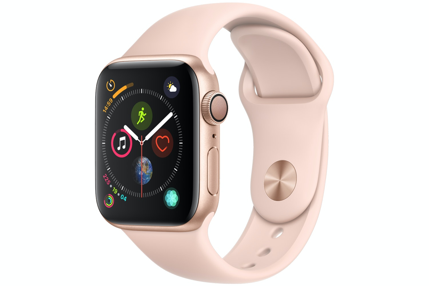 Apple Watch Series 4 Gold Case with Pink Sand Sport Band | 40mm