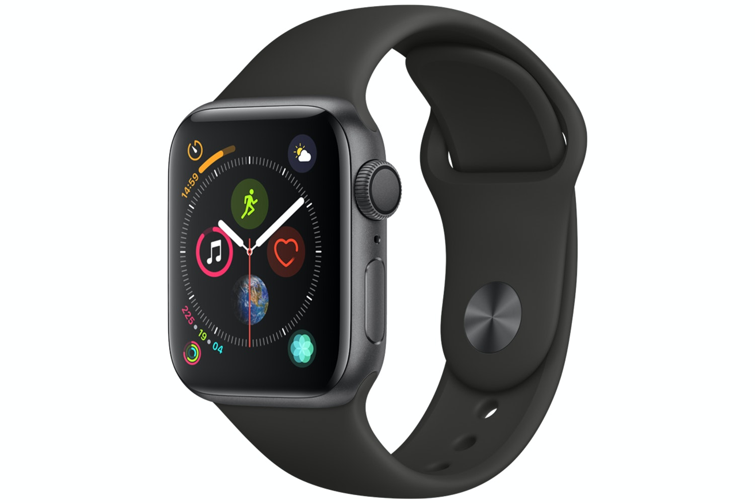 Apple Watch Series 4 Space Grey Case with Black Sport Band | 40mm