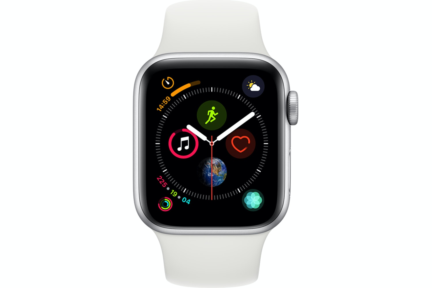 Apple Watch Series 4 Silver Case with White Sport Band | 40mm