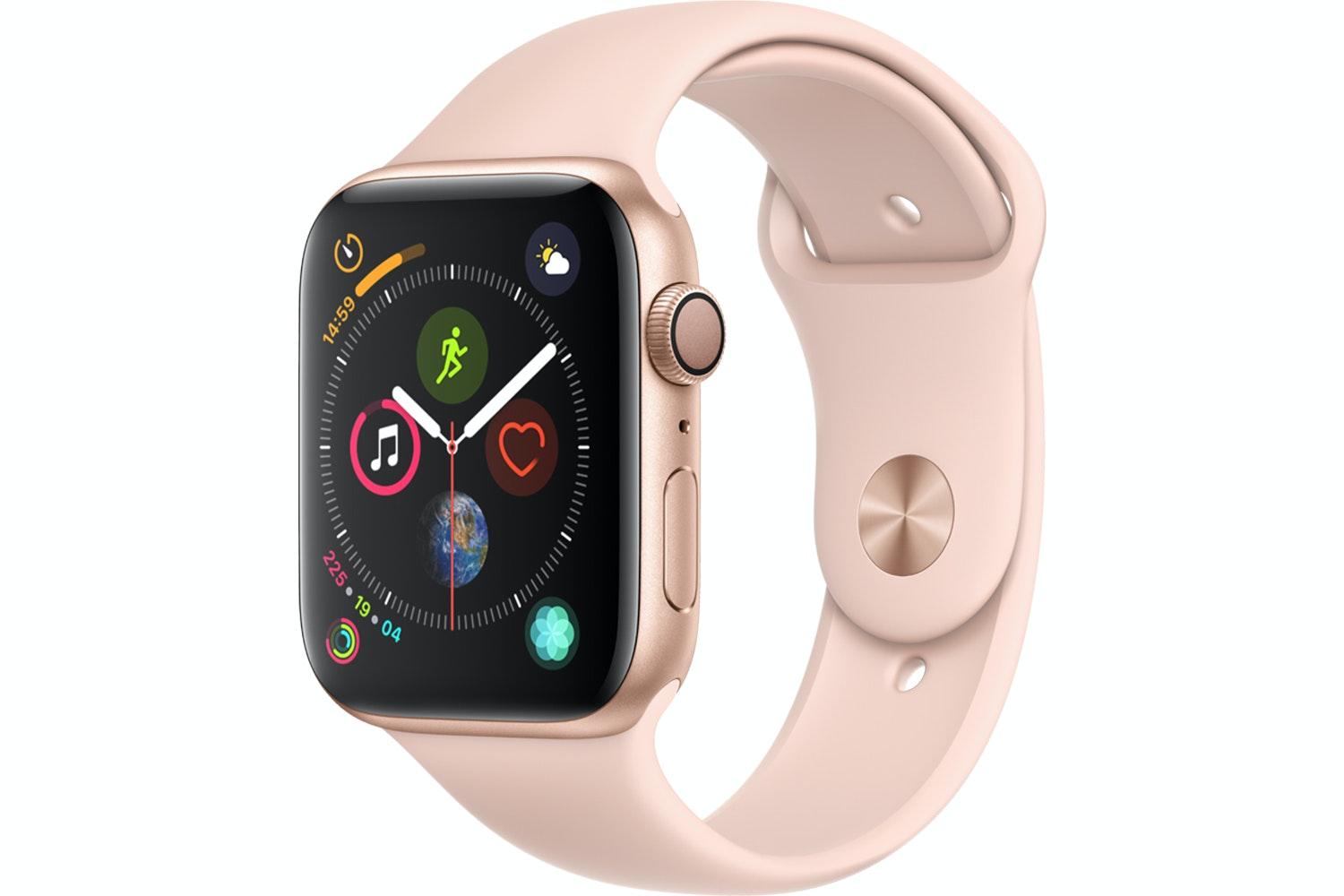 Apple Watch Series 4 Gold Case with Pink Sand Sport Band | 44mm