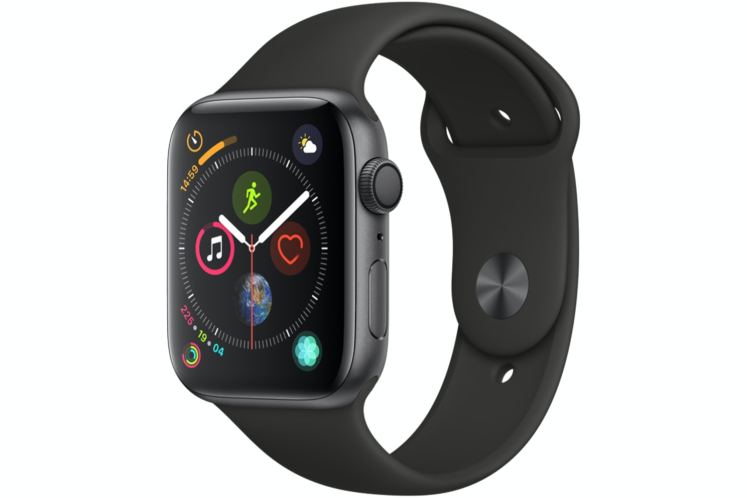 Apple Watch Series 4 Space Grey Case with Black Sport Band | 44mm
