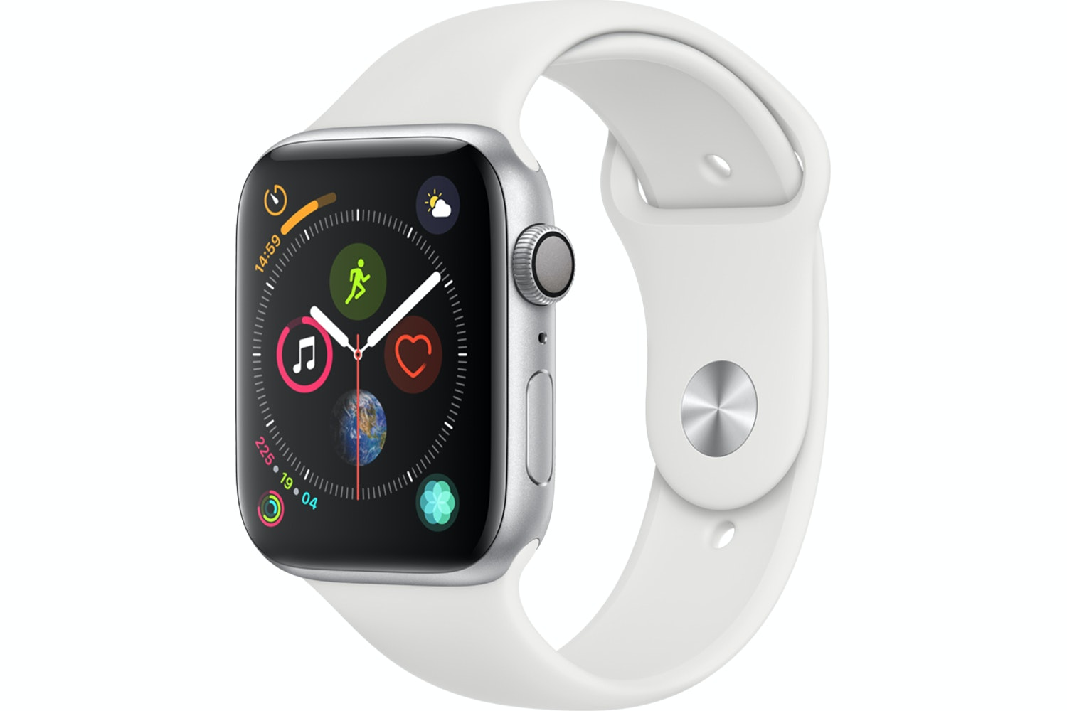 Apple Watch Series 4 Silver Case with White Sport Band | 44mm
