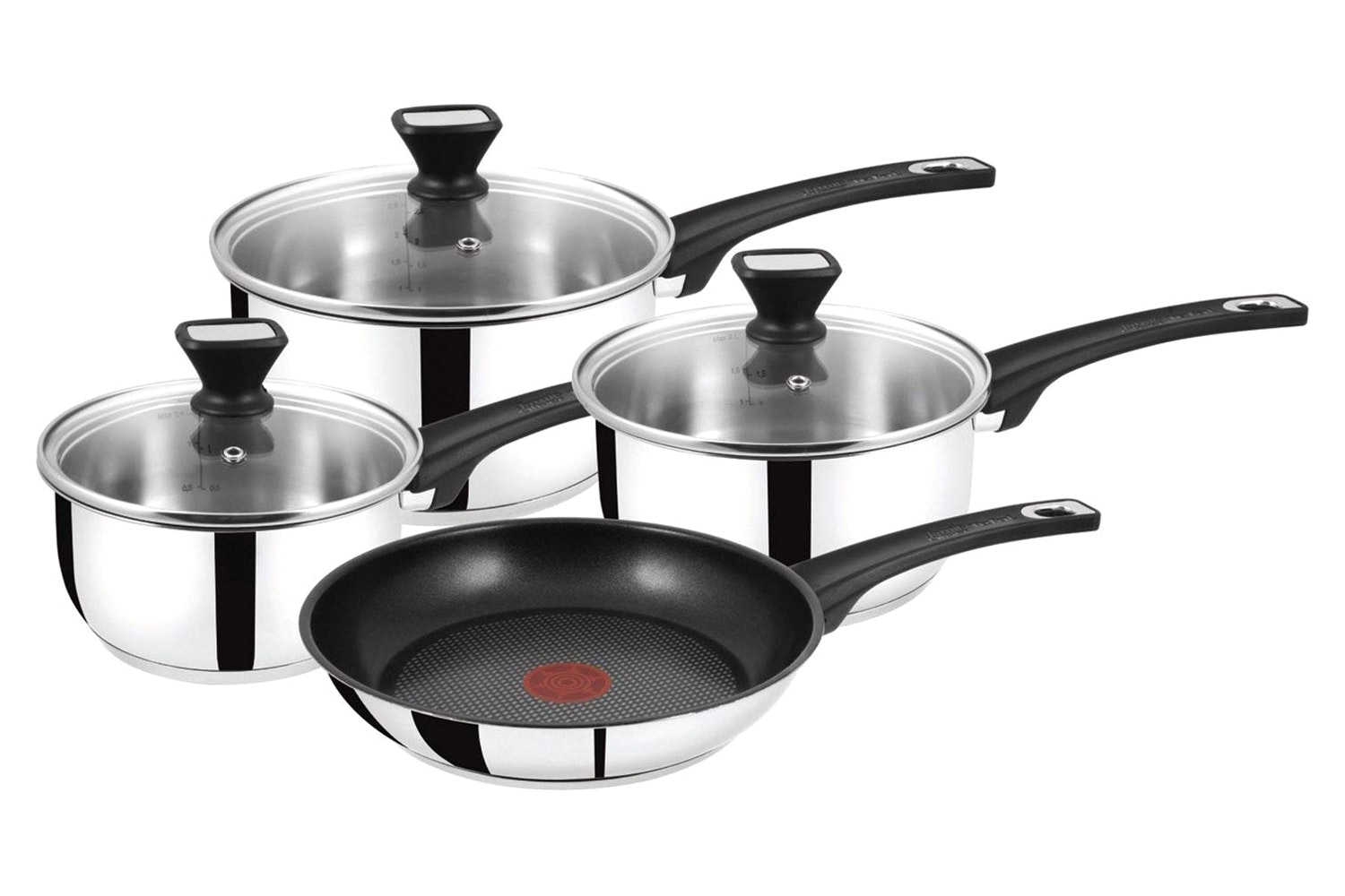 Tefal Jamie Oliver 4pc Stainless Steel Pan Set | B125SA44