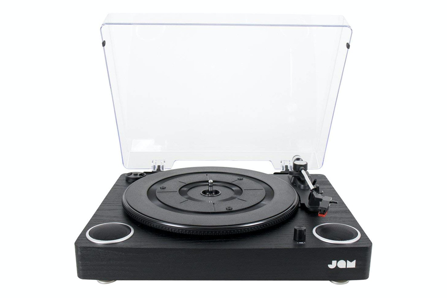 Jam Play Turntable Built In Speakers Vinyl Record | HX-TTP300BWD-GB