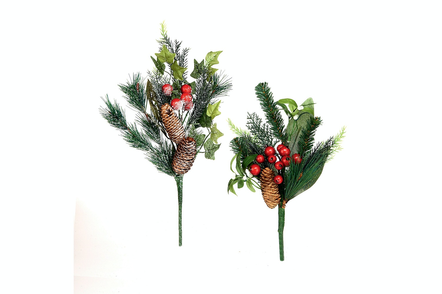 Frosted Pine Berry Decoration