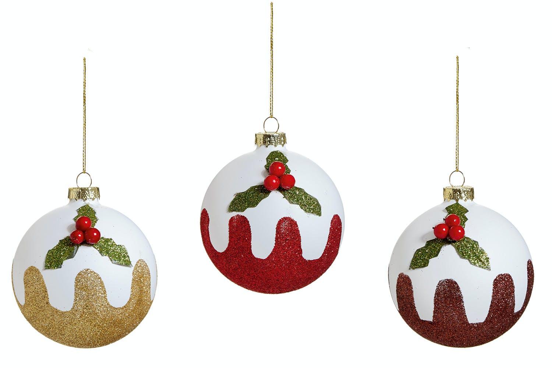 Glitter Pudding Christmas Decoration | Ireland