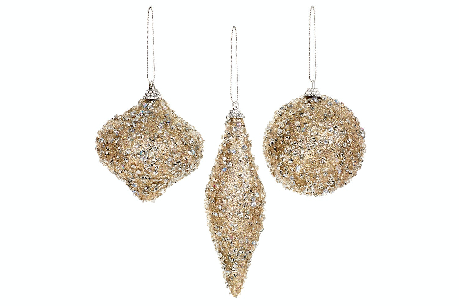 Gold Glitter Christmas Decoration