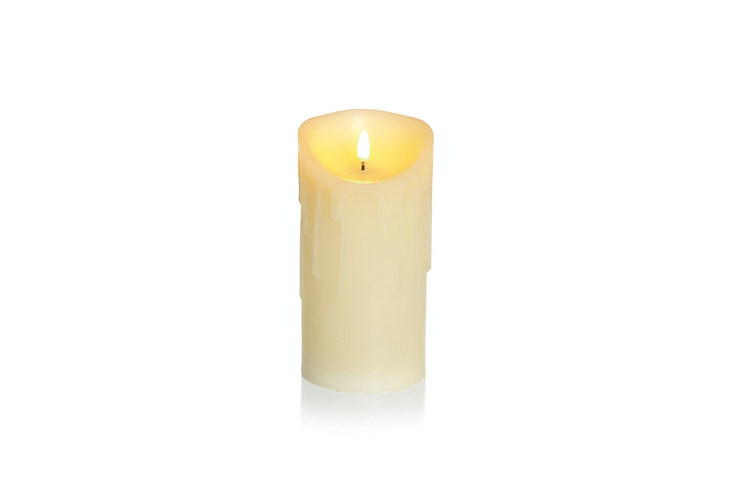 Melted Flicker Candle | Cream | Medium