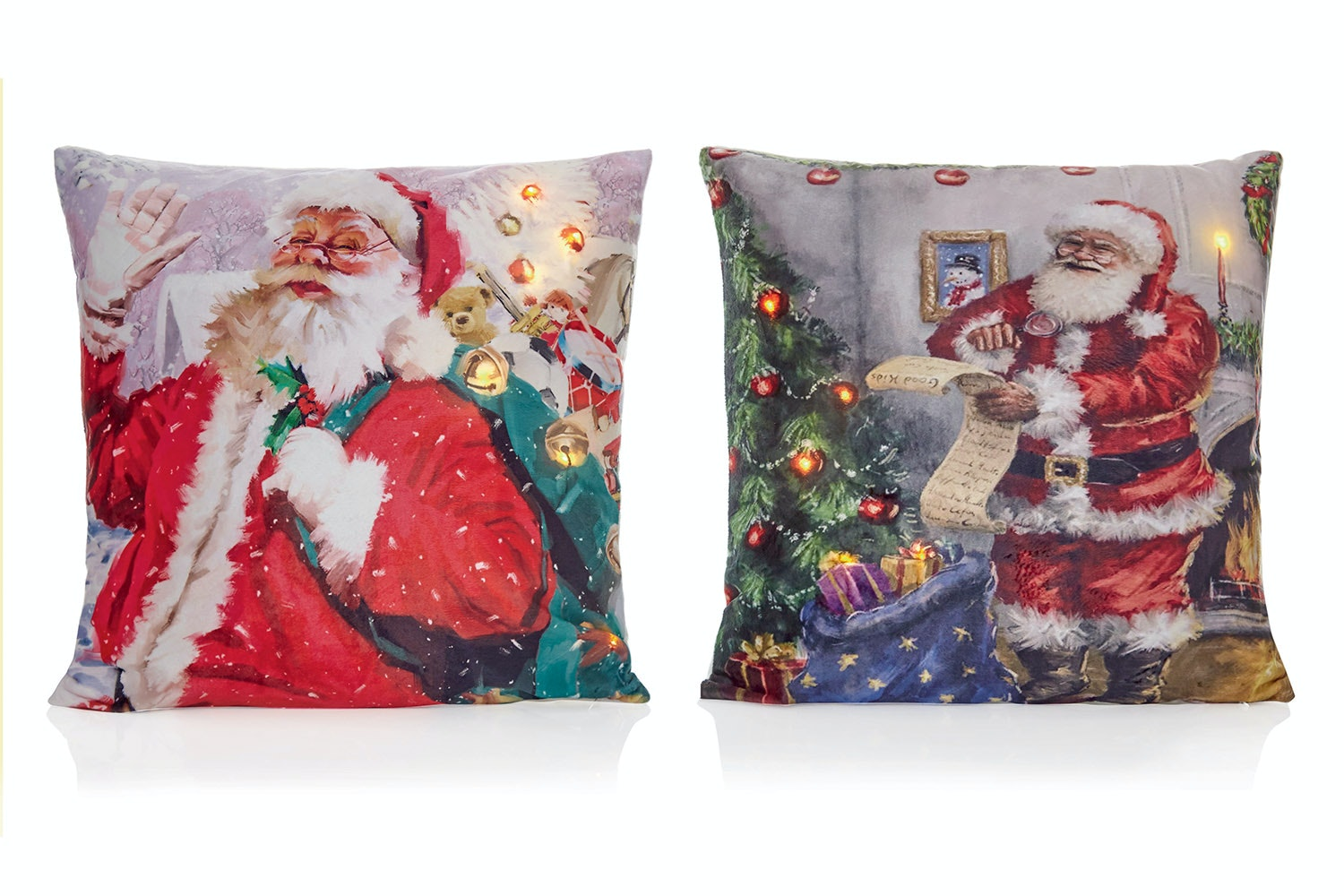 Santa Cushion - Light Up