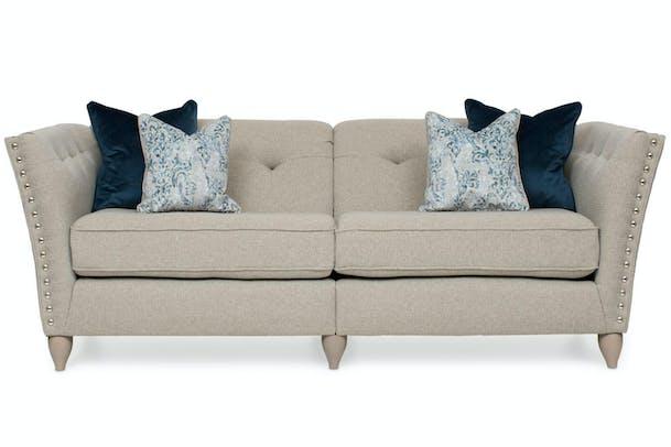 Simba Studded 4 Seater Split Sofa 6 Colour Options