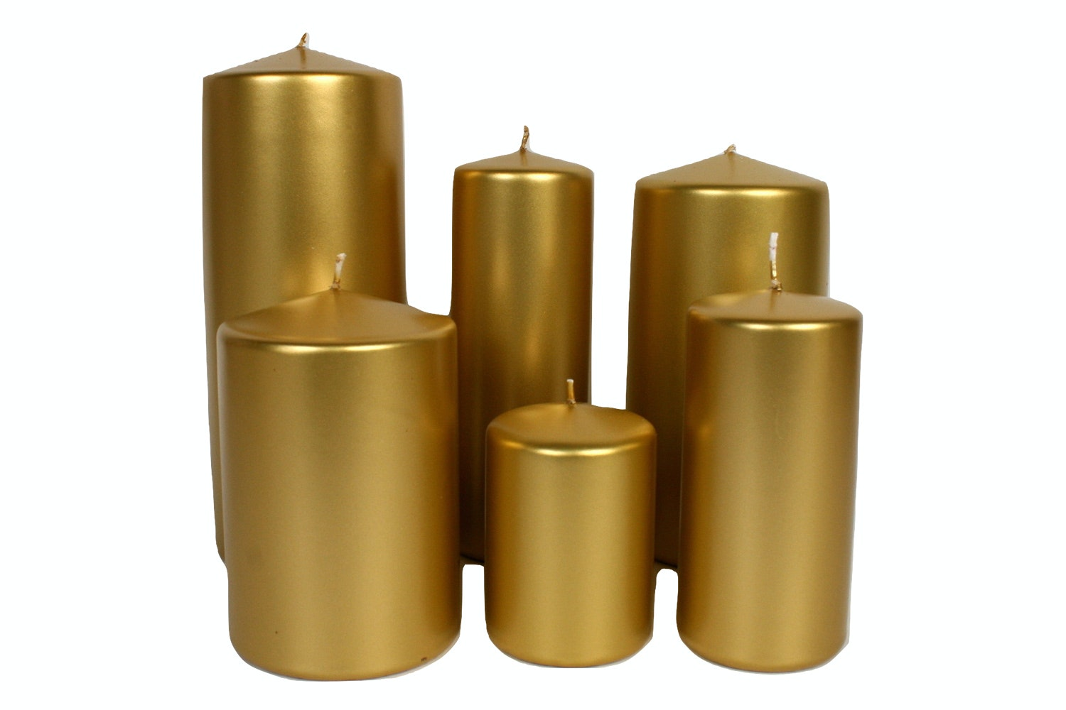 Pillar Candle | Metallic Gold | 100/70cm