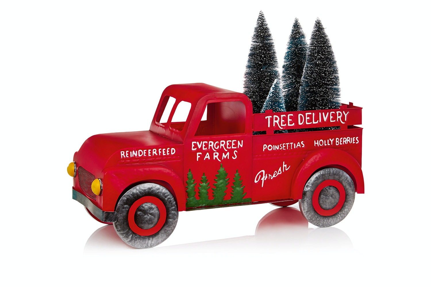 Red Truck Christmas Tree Delivery