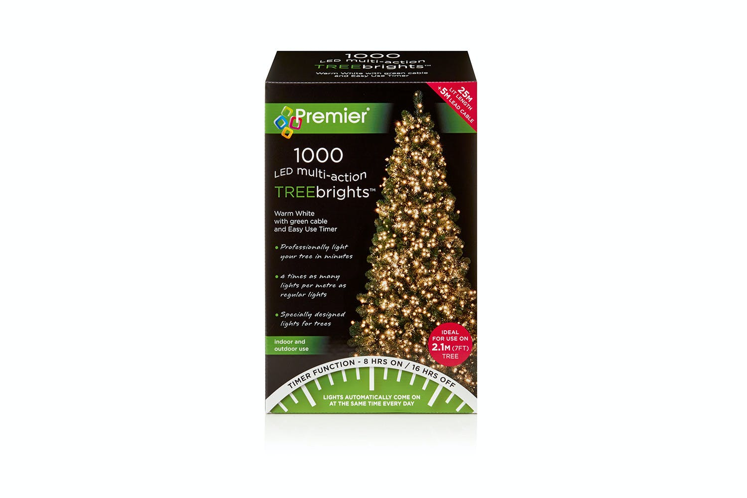 Treebright Christmas Tree Lights Traditional Golden Glow - 1000 ...