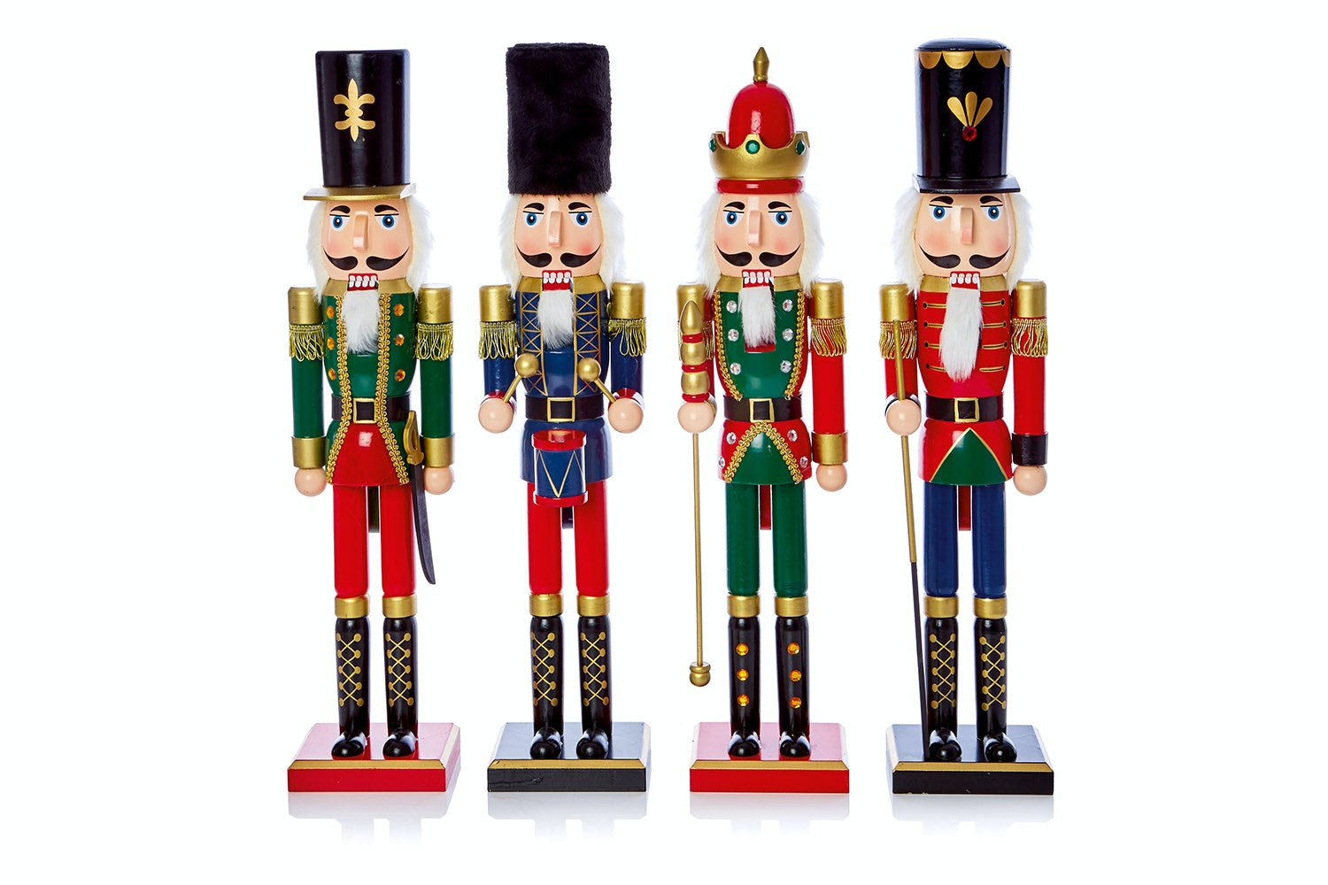 Wooden Nutcracker - 4 Colours Selection