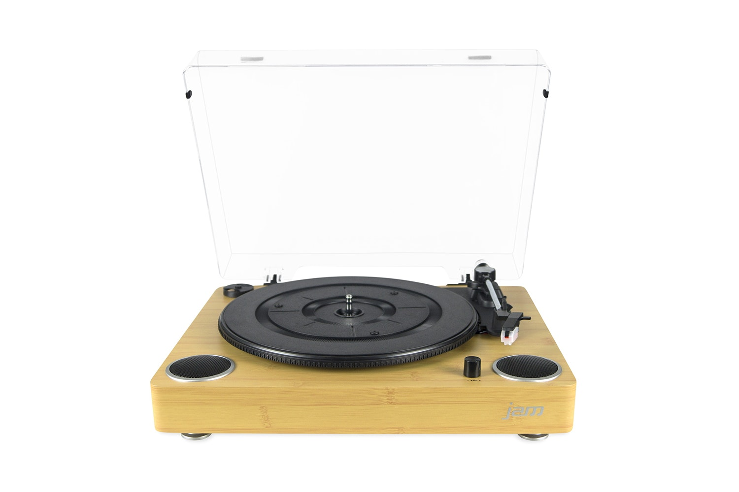 Jam Sound Turntable Built In Speakers Vinyl Record | HX-TTP200WD-GB