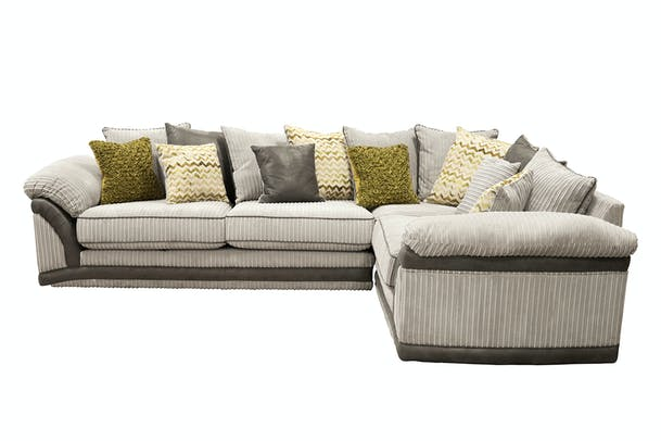 Darcia Corner Sofa | Pillow back