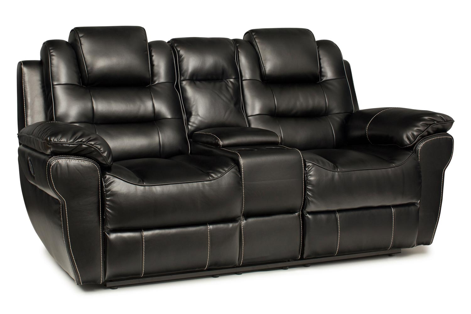 Baxter 2 Seater Electric Recliner With Console Black Ireland