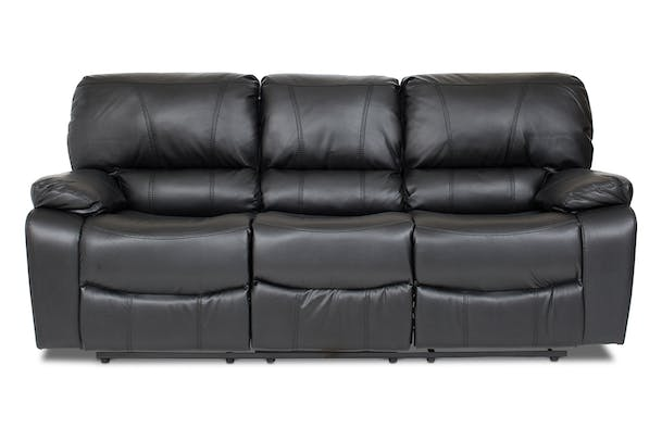 Cooper 3 Seater Recliner | Black