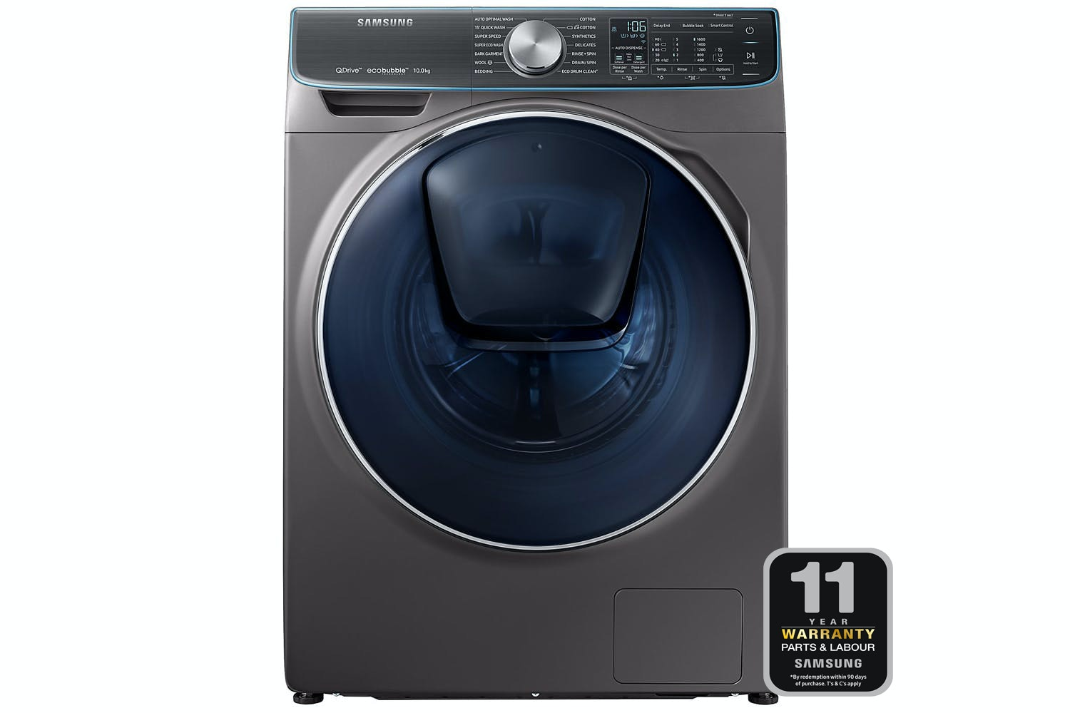 Samsung 10kg QuickDrive Washing Machine | WW10M86DQOO/EU