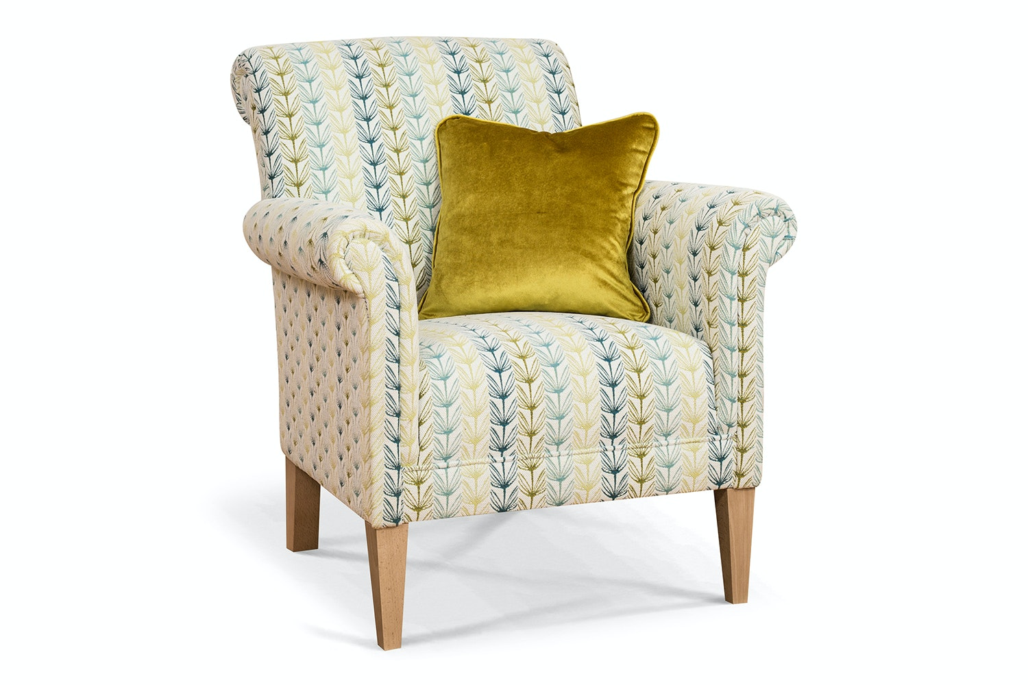 Preston Bedroom Chair | Retro Floral Teal Scatter