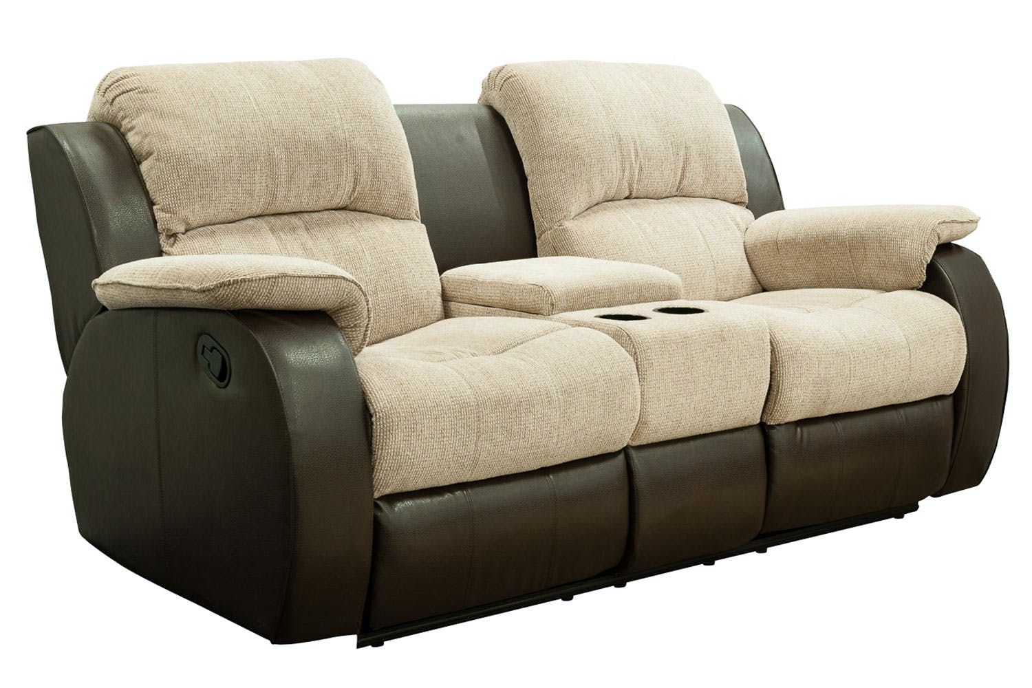 Recliner Sofa With Console Burgundy Leather Reclining Sofa With Console And Nailhead Trim Thesofa