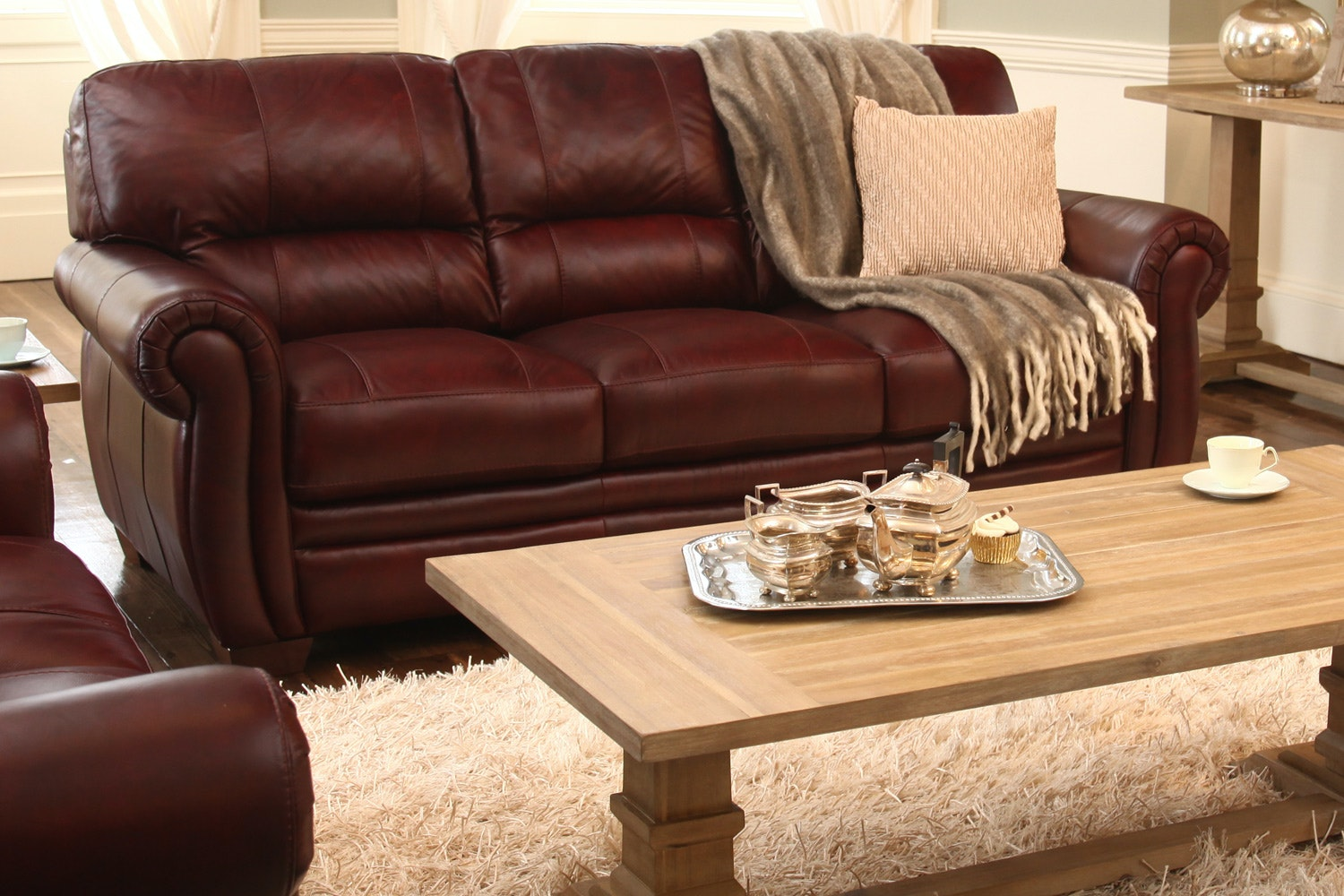 Wilton 3 Seater Leather Sofa