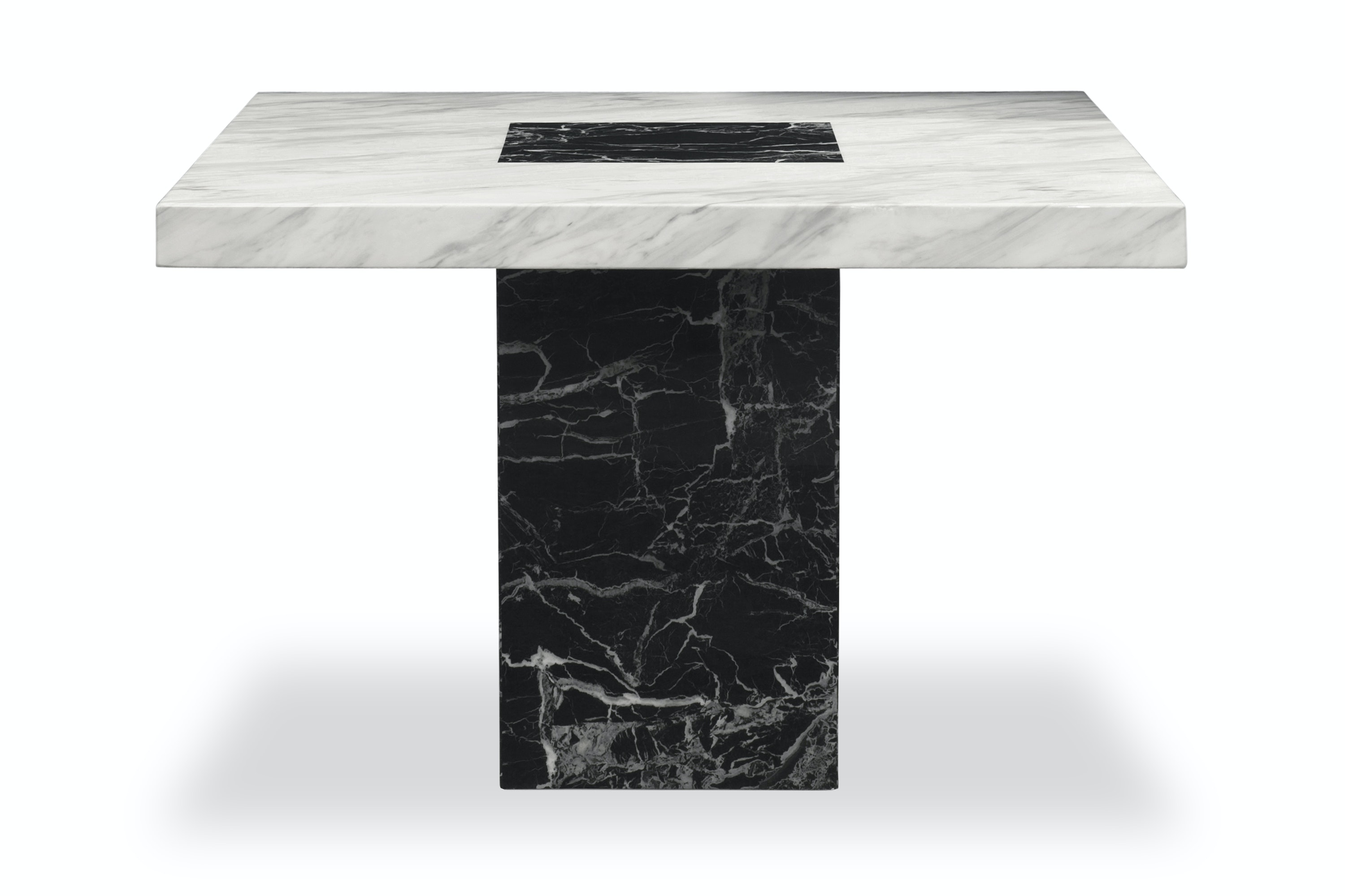 Strasbourg Square Dining Table | Black & White